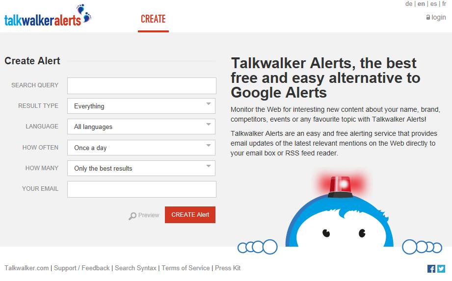 Nejnovější verze Talkwalker Alerts už zvládá bezproblémů češtinu, takže se nemusíte bát, že vám budou chodit upozornění ze stránek v cizím jazyce.