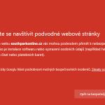 Varování v Chrome na nebezpečný obsah na uloz.to